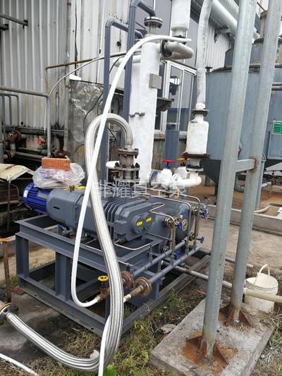 螺杆式真空泵 螺杆真空机组 甲醇回收用无油螺杆真空泵溶剂回收机组使用现场